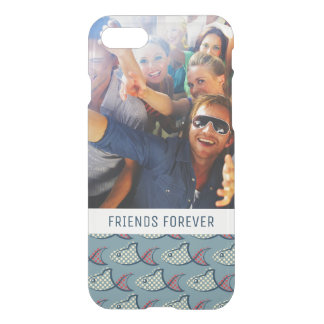 Polka Dot Fish Pattern | Your Photo & Text iPhone 7 Case