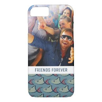 Polka Dot Fish Pattern | Your Photo & Text iPhone 8/7 Case