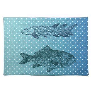 Polka Dot Fish Placemat