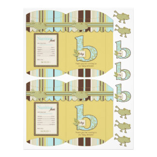 Polka Dot Frog & Stripe Print DIY Box Template Full Color Flyer