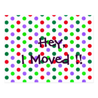 Polka Dot Fun new Home Notifications Postcard