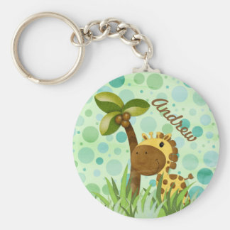 Polka Dot Giraffe Key Chains