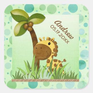 Polka Dot Giraffe Square Sticker
