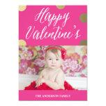 Polka Dot Gold | Valentine's Day Photo Card 13 Cm X 18 Cm Invitation Card