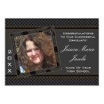 Polka Dot Graduation Invitation (Black And Brown) 13cm X 18cm Invitation Card