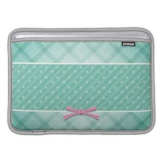 Polka Dot {green} Pattern MacBook Sleeve