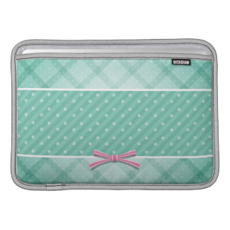 Polka Dot {green} Pattern Sleeve For MacBook Air