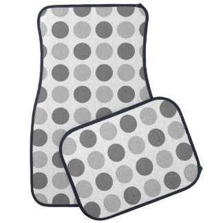 Polka Dot Greys Car Mat
