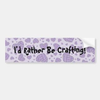 Polka Dot Heart Shaped Balls of Yarn (Purple #2) Bumper Sticker