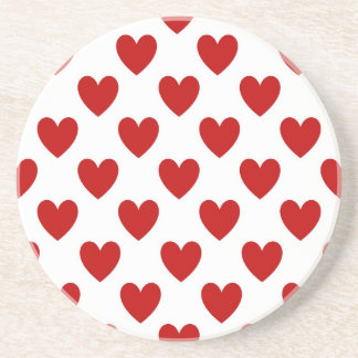 Polka Dot Hearts Beverage Coaster