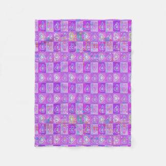 Polka Dot Hearts Fleece Blanket
