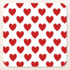 Polka Dot Hearts Square Paper Coaster