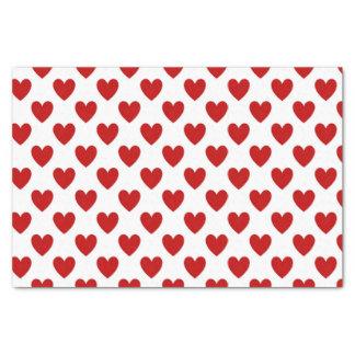 Polka Dot Hearts Tissue Paper