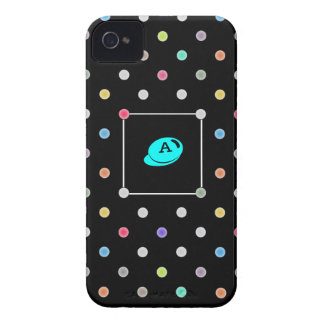 Polka-dot initial Iphone4 iphone4s case-mate case iPhone 4 Case-Mate Case