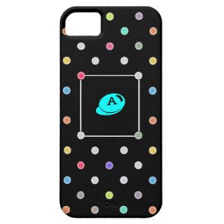 Polka-dot initial Iphone4 iphone case-mate case iPhone 5 Cases