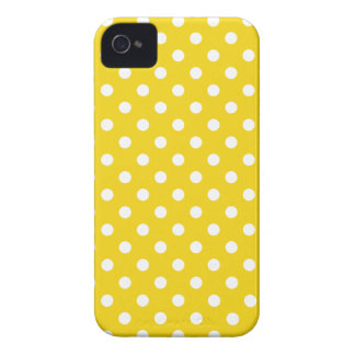 Polka Dot Iphone 4S Case in Lemon Yellow