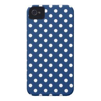 Polka Dot Iphone 4S Case in Sodalite Blue