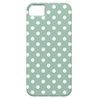 Polka Dot iPhone 5/5S Case in Grayed Jade Green