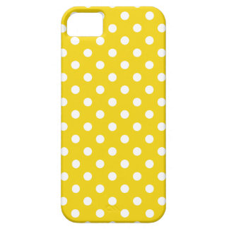 Polka Dot iPhone 5/5S Case in Lemon Yellow