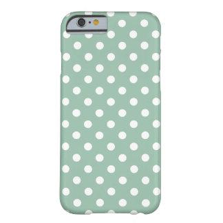 Polka Dot iPhone 6 case in Grayed Jade Green
