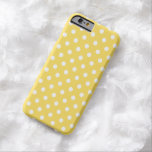 Polka Dot iPhone 6 case in Lemon Zest Yellow Barely There iPhone 6 Case