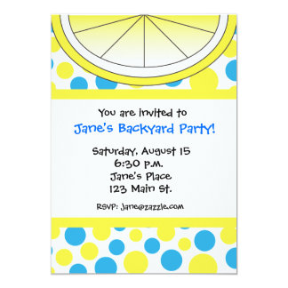 Polka Dot Lemon Invitation