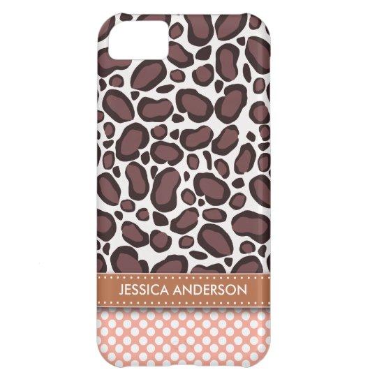 Polka Dot Leopard Print iPhone 5 Case-Mate