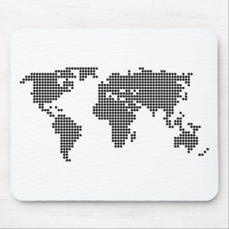 Polka Dot Map Mouse Mat