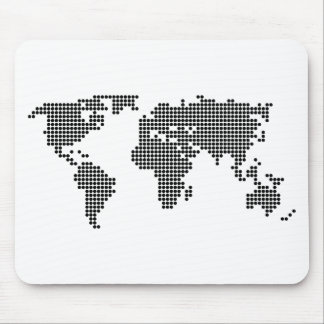 Polka Dot Map Mouse Pads