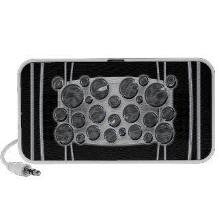 Polka dot metal black portable iPhone speakers