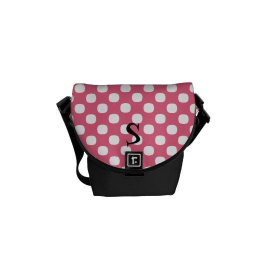 Polka Dot Monogram Mini Messenger Bag