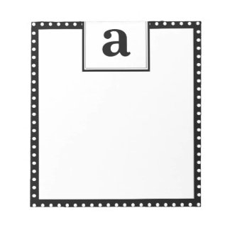 Polka Dot Monogram Notepads