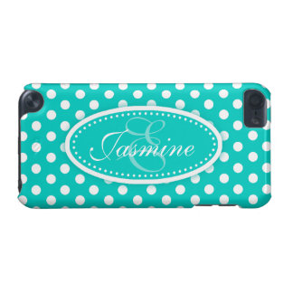 Polka dot named teal aqua ipod case
