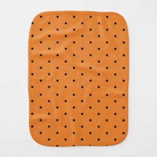 Polka Dot Orange and Black Burp Cloth