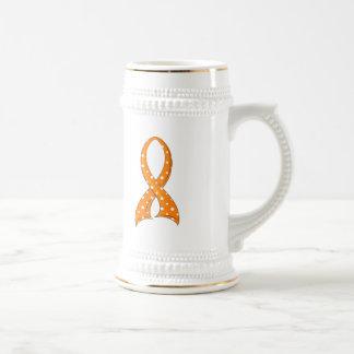 Polka Dot Orange Ribbon Multiple Sclerosis Coffee Mug