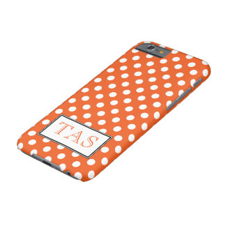 Polka Dot Orange & White iPhone 6 Case Barely There iPhone 6 Case