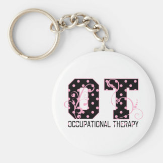 Polka Dot OT Key Ring