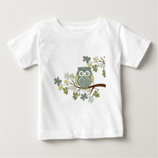 Polka Dot Owl in Tree Baby T-Shirt