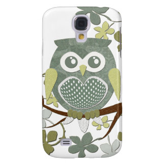 Polka Dot Owl in Tree Galaxy S4 Case