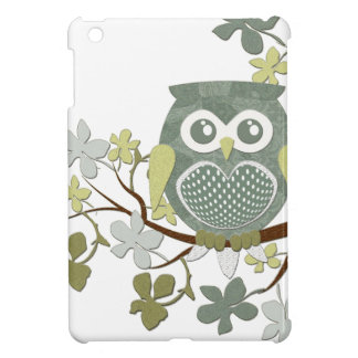 Polka Dot Owl in Tree iPad Mini Covers