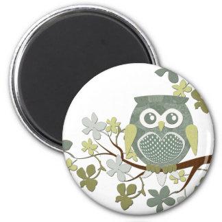 Polka Dot Owl in Tree Magnet