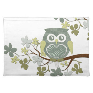 Polka Dot Owl in Tree Placemat