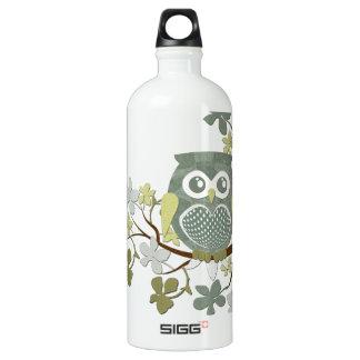 Polka Dot Owl in Tree Water Bottle