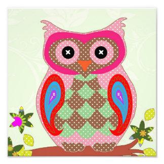 Polka dot owl poster photograph