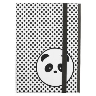 Polka dot panda iPad case