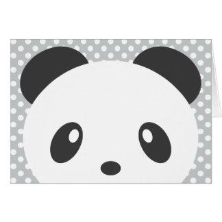 Polka dot panda note card