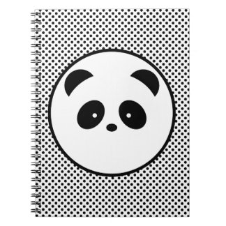Polka dot panda notebook