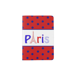 Polka Dot Paris Passport Holder