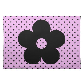 Polka Dot Party Flower in Pink Placemats