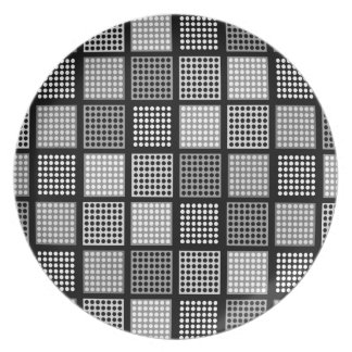 Polka Dot Patchwork Pattern Plate